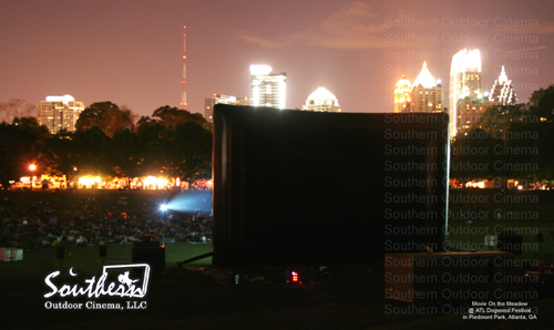 Southern Outdoor Cinema: Screen on the green event at Piedmont Park